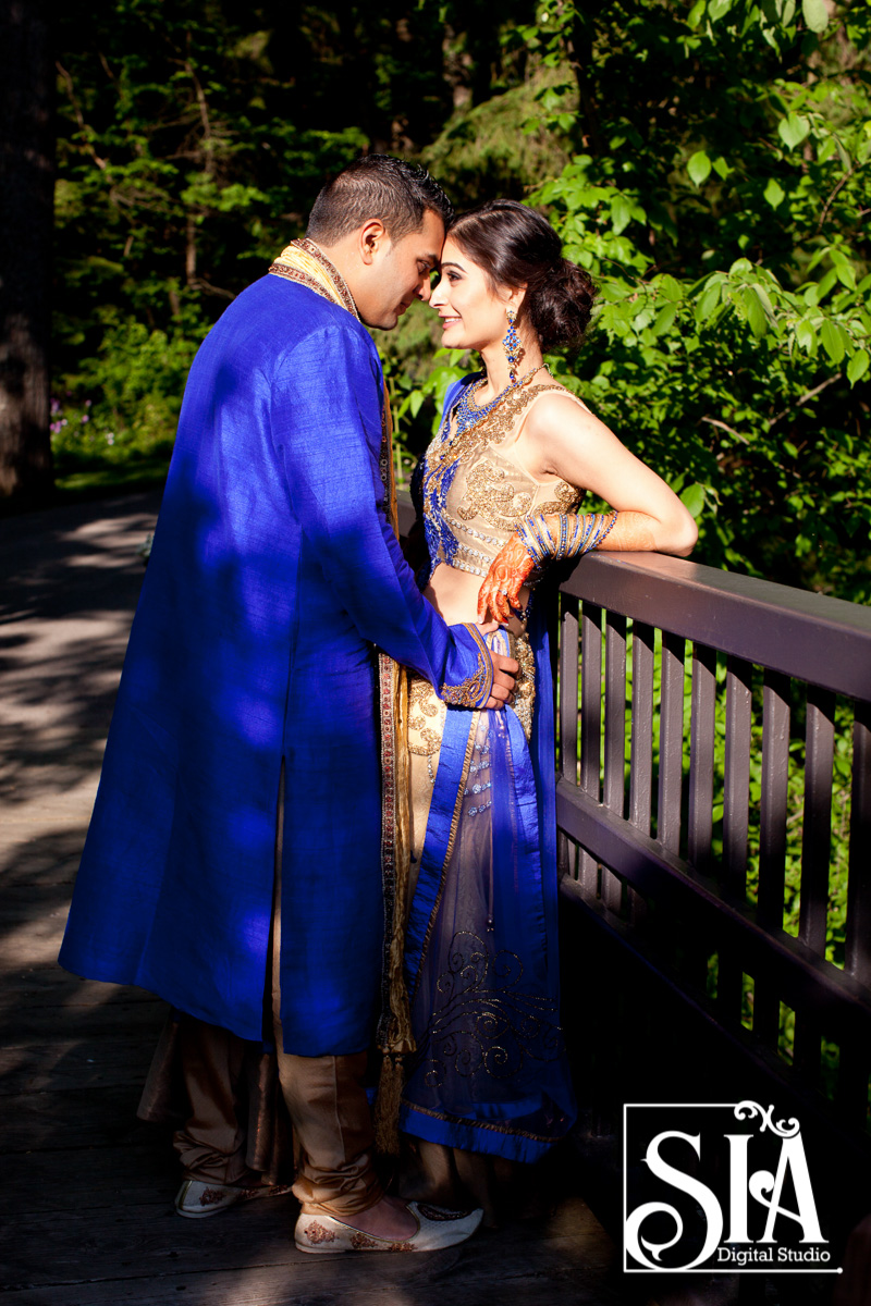 This Wedding Couple Breaking the Monotony with the Color Blue !